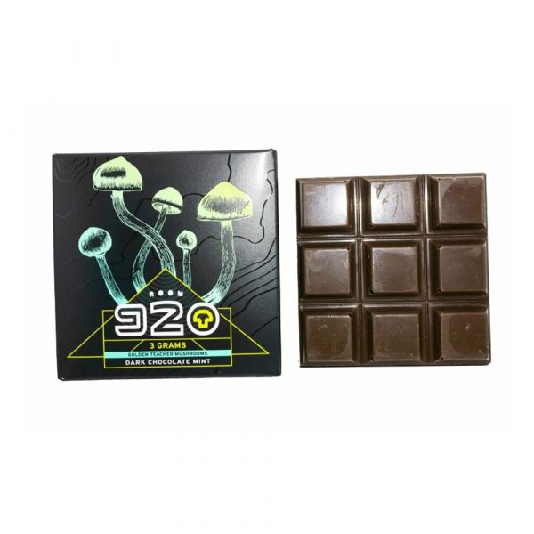 Room 920 Mushroom Chocolate Bar – Mint Dark Chocolate